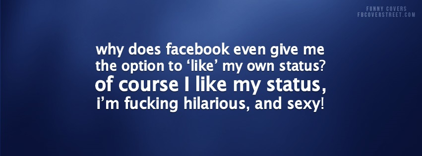 Facebook Like My Own Status Facebook Cover