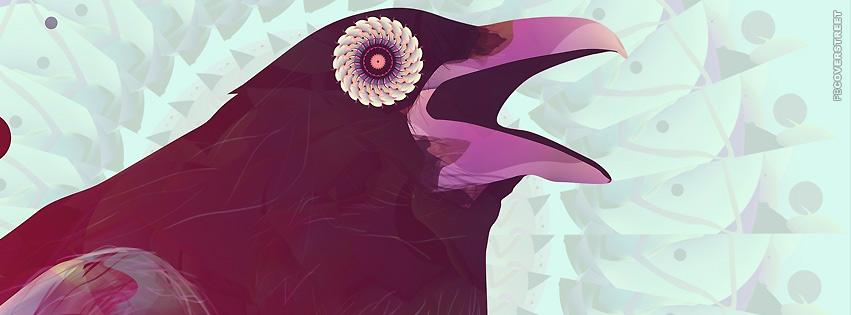Purple Vector Bird Artwork  Facebook Cover