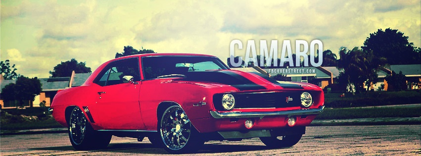 Red Chevy Camaro Facebook cover