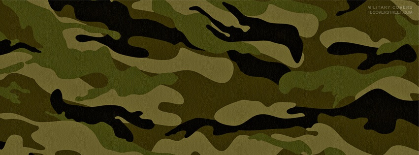 Green Camo Pattern Facebook Cover
