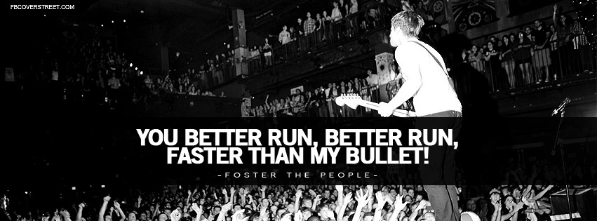 Foster The People Pumped Up Kicks Lyrics Facebook cover