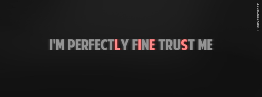 Im Perfectly Fine  Facebook Cover