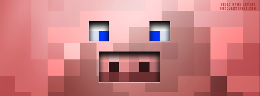 Minecraft Pig Face Facebook cover