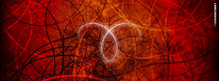 Red Aries Symbol Zodiac Sign  Facebook cover
