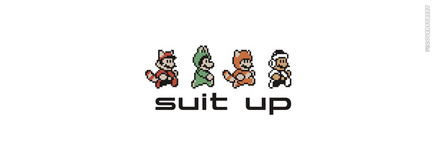 Suit Up Mario  Facebook Cover