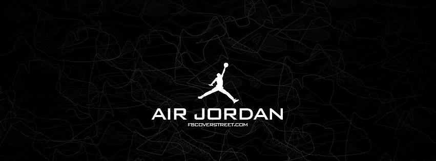 Air Jordan Logo Shoe Outline Facebook Cover