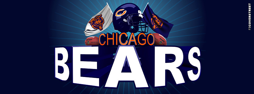 Chicago Bears Fan Logo Facebook Cover