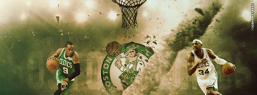 Boston Celtics Basketball Rajon Rondo and Paul Pierce  Facebook cover