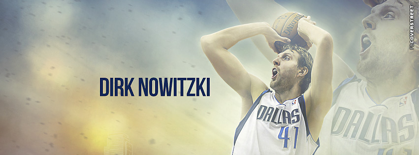 Dallas Mavericks Dirk Nowitzki Cover  Facebook cover