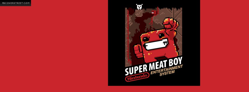 Super Meat Boy Cartridge Facebook cover