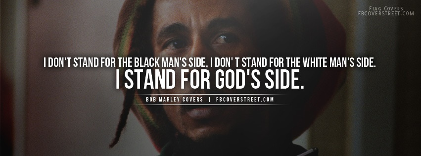 Bob Marley Stand For God Quote Facebook Cover
