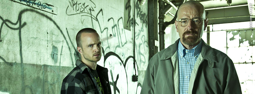 Jesse and Walter White Heisenberg Breaking Bad Photograph Facebook cover