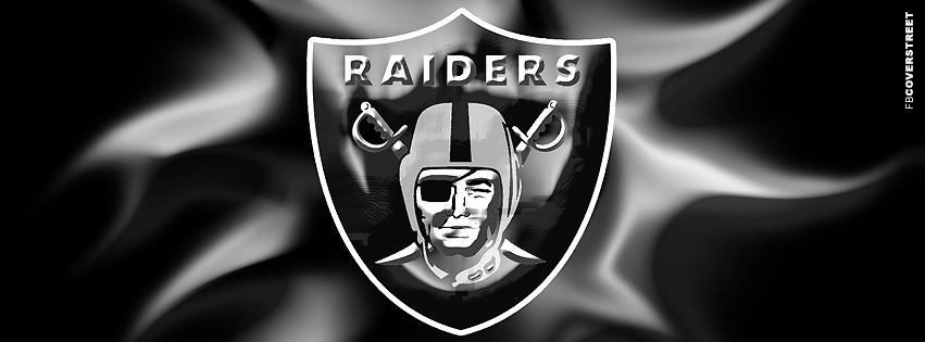 Oakland Raiders Abstract Logo  Facebook cover