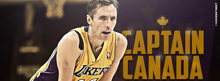 Los Angeles Lakers Steve Nash Captain Canada  Facebook cover