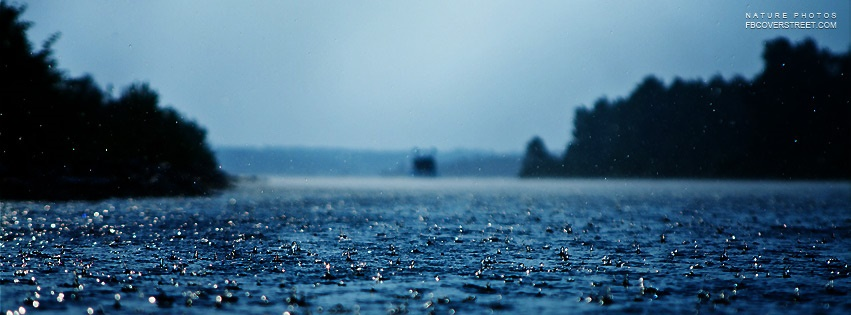 Rain Covered Road Facebook Cover