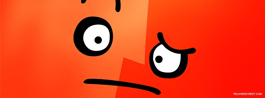 Orange Sad Face Facebook Cover