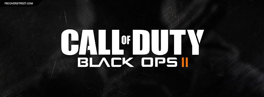 Call of Duty Black Ops II Scraped Logo Facebook Cover