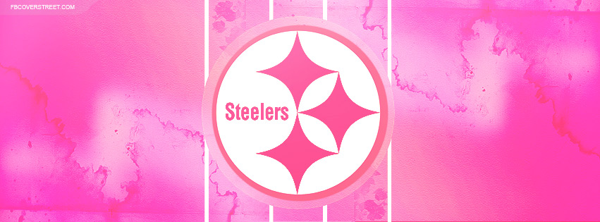 Pittsburgh Steelers Pink Logo 2 Facebook Cover