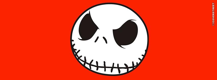 Jack Skellington Face Facebook Cover