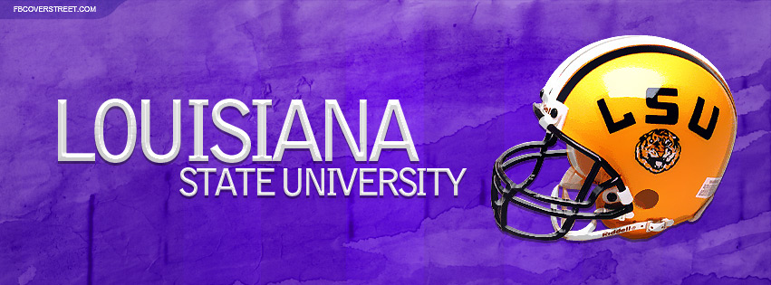 Louisiana State University Helmet Purple Facebook cover