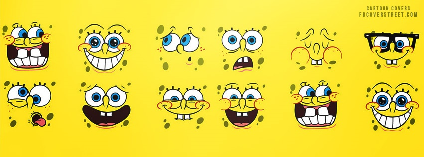 Spongebob Faces Facebook Cover