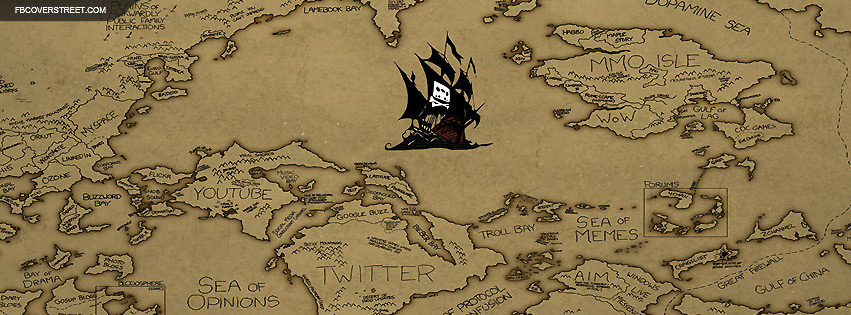 The Pirate Bay Sea of The Internet Large Facebook Cover