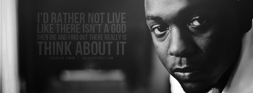 Kendrick Lamar Think About It Facebook Cover