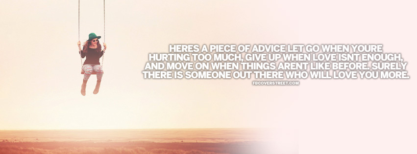 A Piece of Advice Quote Facebook cover