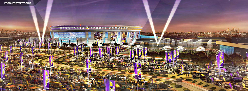 Hubert H Humphrey Metrodome New Minnesota Vikings 2 Facebook Cover