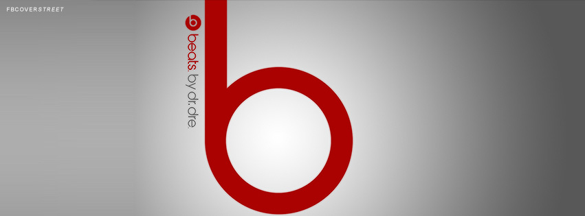 Beats By Dre Grey Red Logo Facebook Cover Fbcoverstreet