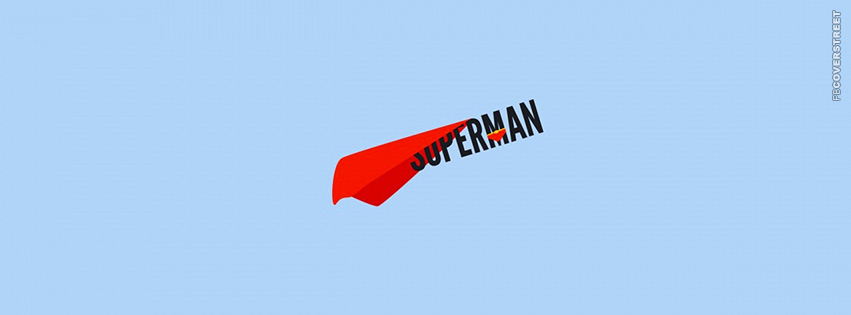 Superman Text  Facebook cover