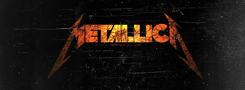 Metallica Grungy Logo Facebook Cover