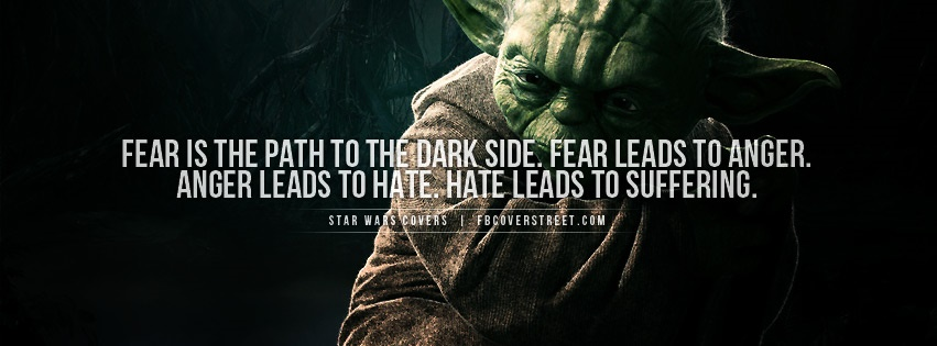 Yoda Fear Quote Facebook Cover