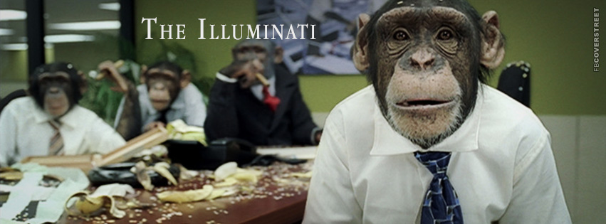 The Illuminati Monkeys at Work Facebook Cover ...