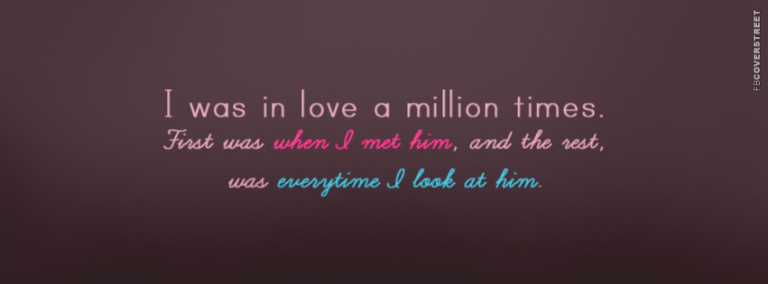 I Was In Love A Million Times  Facebook cover