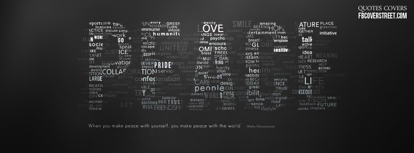 Peace Words Facebook Cover