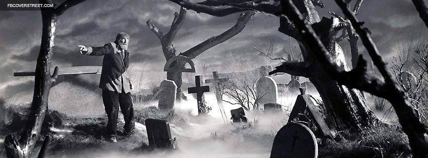 Creepy Cemetary Movie Scene Facebook Cover Fbcoverstreetcom