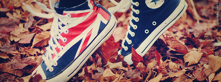 British Converse In Leaves  Facebook cover