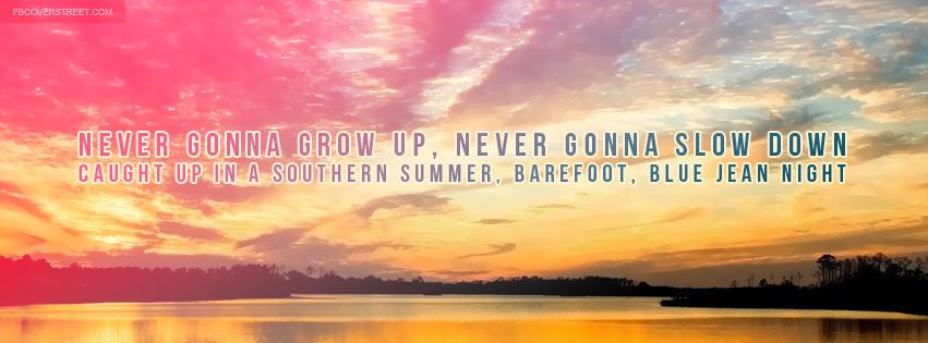 Jake Owen Barefoot Blue Jean Night Lyrics Quote Facebook Cover