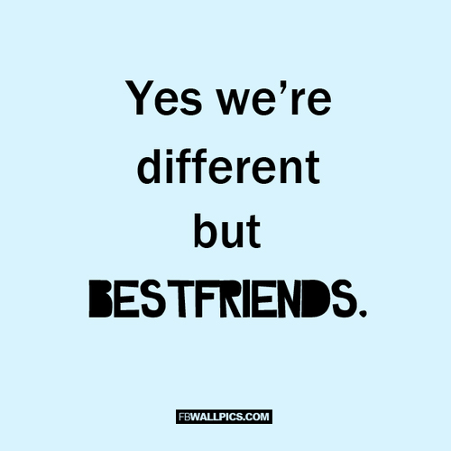 Yes Were Different But Were Best Friends  Facebook picture