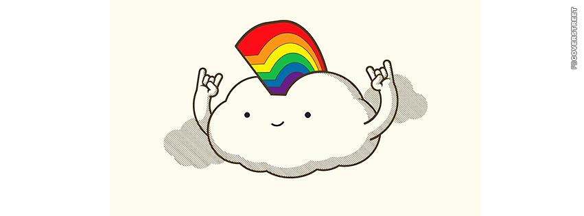 Mohawk Cloud Cartoon  Facebook Cover