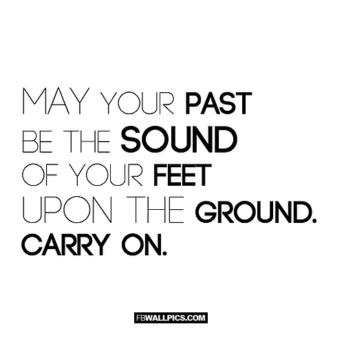 May Your Past Be The Sound of Your Feet  Facebook picture