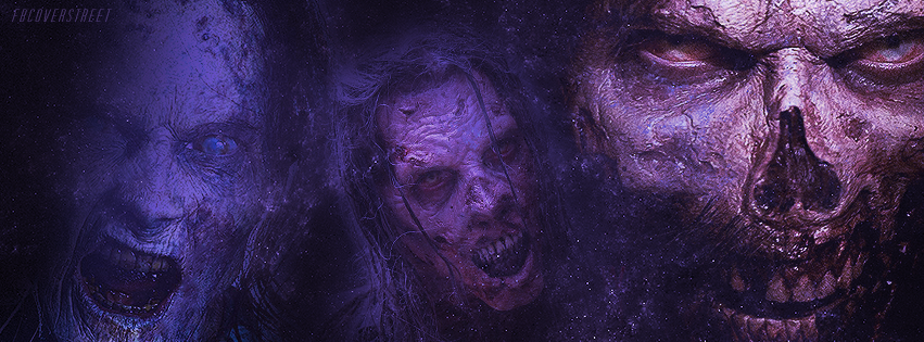 The Walking Dead Season 5 Zombies Purple Facebook Cover