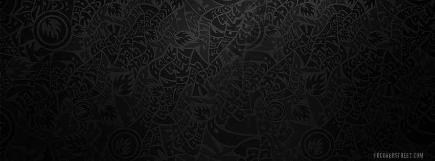Black Label Wild Text Pattern Facebook cover