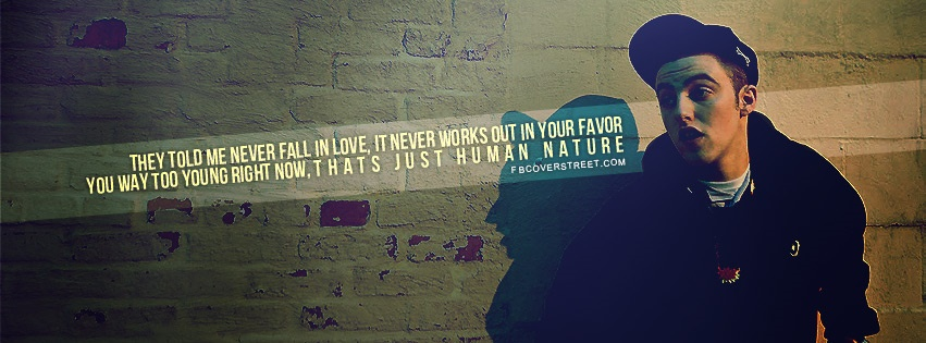 Mac Miller Human Nature Quote Facebook Cover