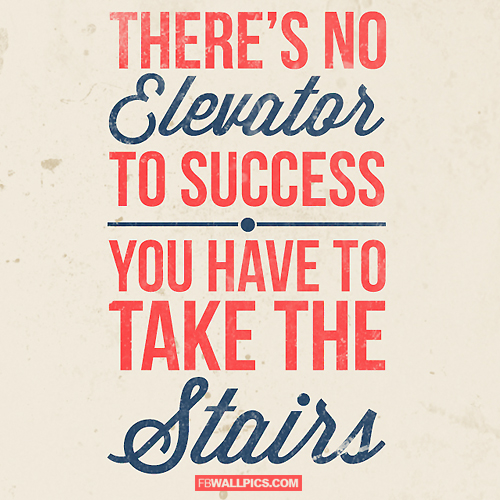 No Elevator To Success  Facebook picture