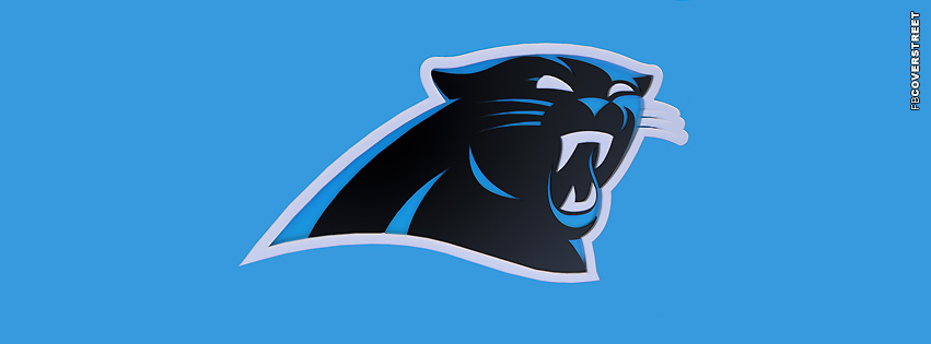 Carolina Panthers Simple Blue Logo Facebook cover