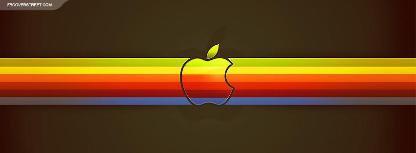 Apple OS Retro 1970 Colors Facebook cover