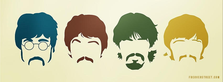 The Beatles Heads Facebook Cover