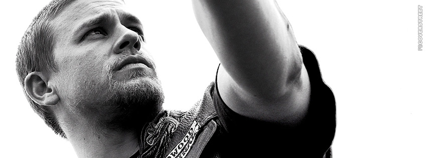 Jax Teller On His Harley Sons of Anarchy  Facebook Cover